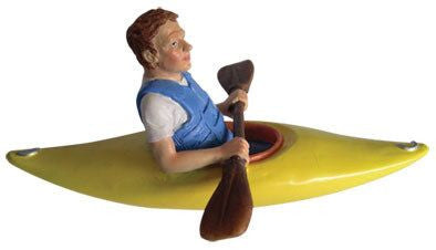 Kayaker Christmas Ornament