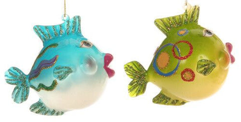 Fish Christmas Ornaments (Set of 2)