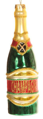 Champange Bottle Christmas Ornament