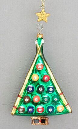 Billiard Ball Christmas Tree Ornament