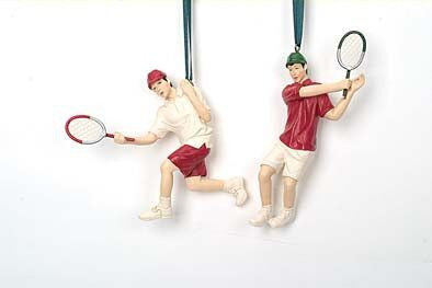 Tennis Players Christmas Ornament (Set of 2)
