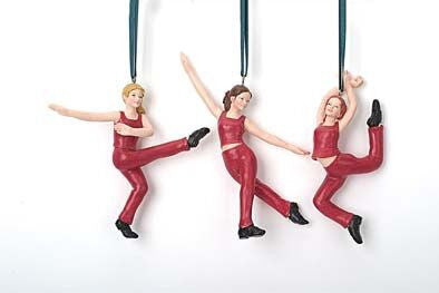 Dancers Christmas Ornaments (Set of 3)