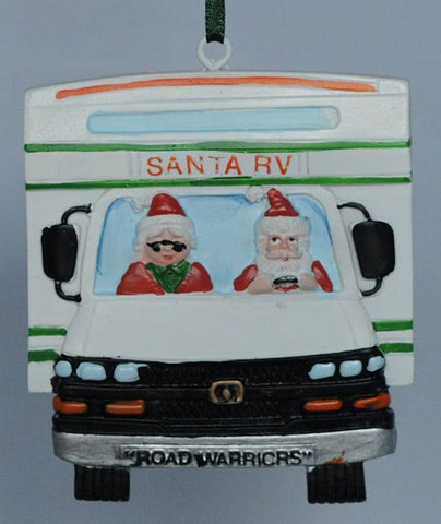 Santa RV Christmas Ornament