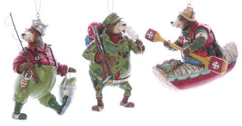 Sport Activity Bears Christmas Ornament (Set of 3)