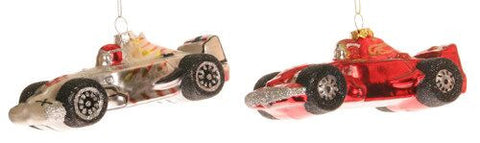 Race Car Christmas Ornaments (Set of 2)