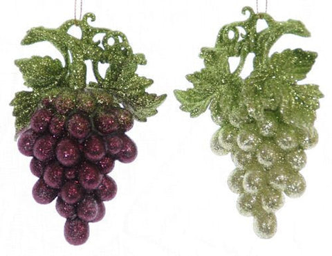 Grapes Christmas Ornaments (Set of 2)