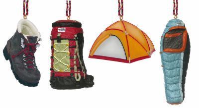 Camping Christmas Ornament Set