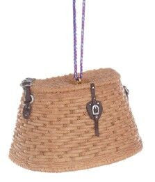 Creel Basket Christmas Ornament