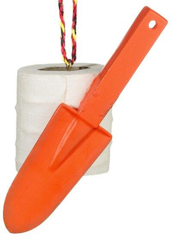 Toilet Paper and Trowel Christmas Ornament