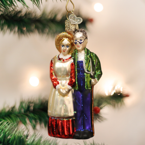 Farm Couple Christmas Ornament