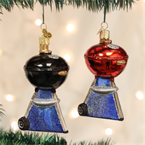 BBQ Grill Christmas Ornament (Set of 2)