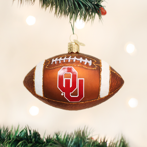 Oklahoma Football Christmas Ornament
