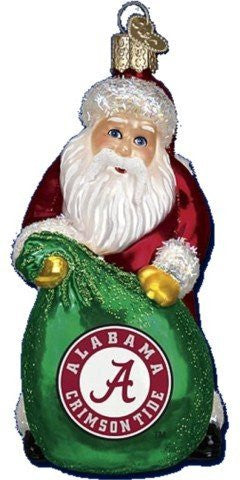 Alabama Santa Christmas Ornament
