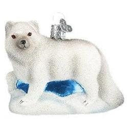 Artic Fox Christmas Ornament