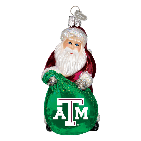 Texas A & M Santa Christmas Ornament