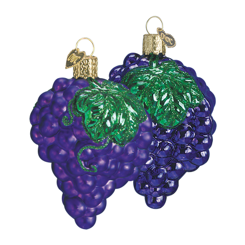 Purple Grapes Christmas Ornaments (Set of 2)
