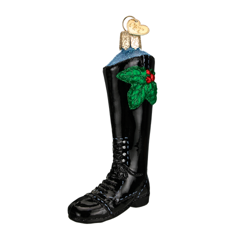 English Riding Boot Christmas Ornament