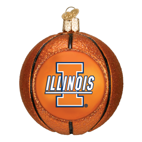 Illinois Basketball Christmas Ornament