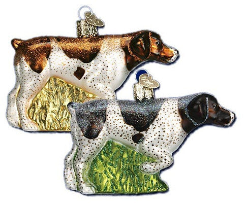 German Shorthair Dogs Christmas Ornament (Set of 2)
