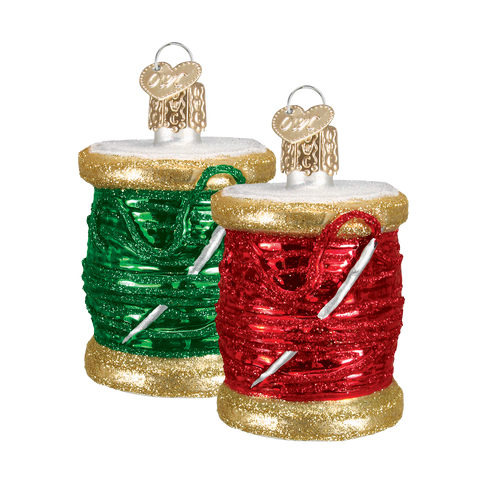 Spool of Thead Christmas Ornament (Set of 2)