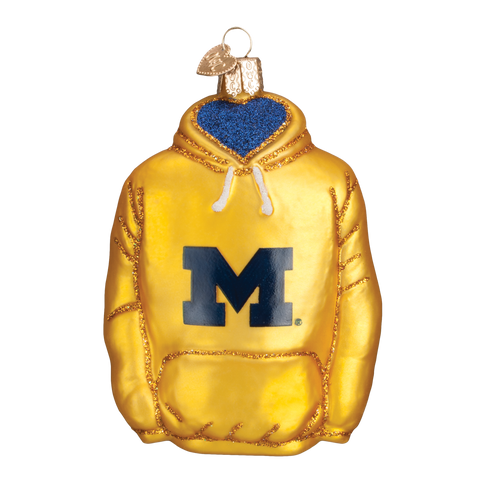 Michigan Hoodie Christmas Ornament