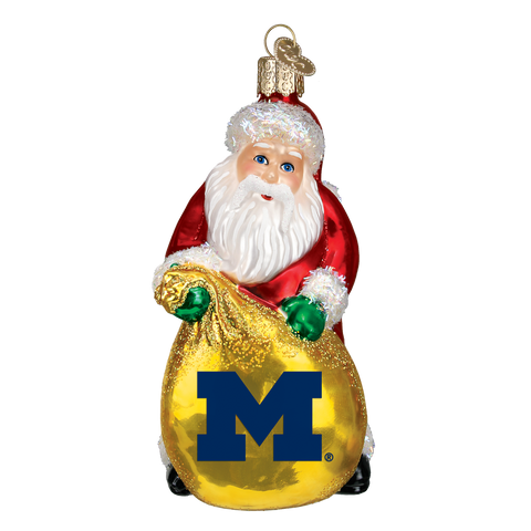 Michigan Santa Christmas Ornament