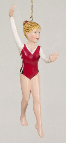 Girl Gymnastic Christmas Ornament