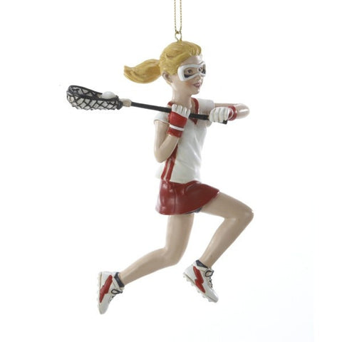 Lacrosse Girl Christmas Ornament