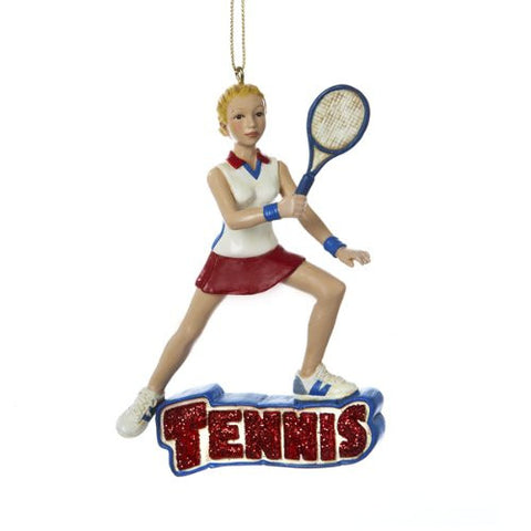 Girl Tennis Player Christmas Ornament