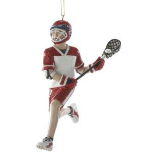 Lacrosse Boy Christmas Ornament