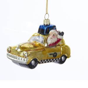 New York Taxi Christmas Ornament