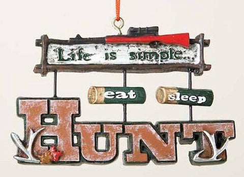 Hunting Sign Christmas Ornament