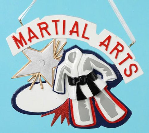 Martial Arts Christmas Ornament