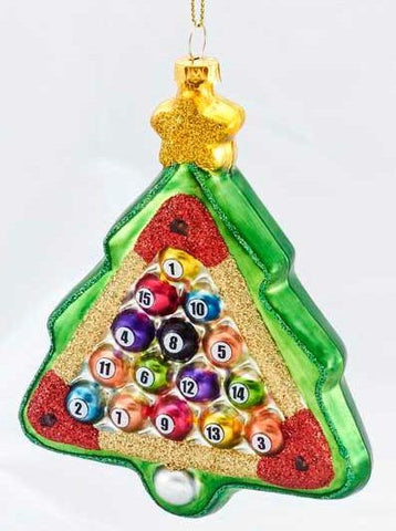 Billard Ball Tree Christmas Ornament