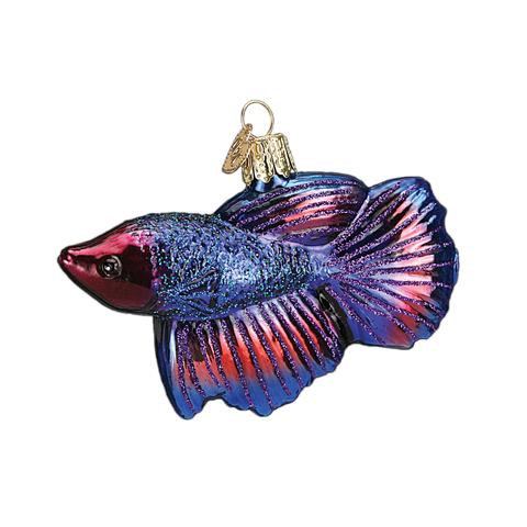 Betta Fish Christmas Ornament