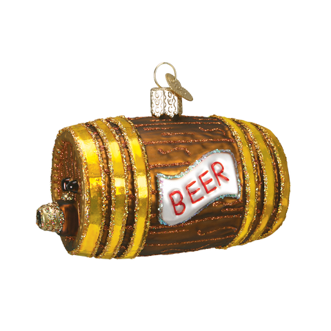 Beer Keg Christmas Ornament