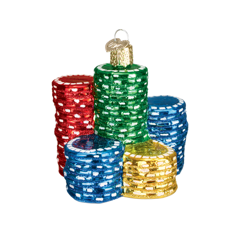 Poker Chips Christmas Ornament