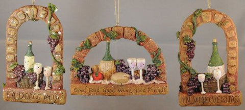 Wine Arches Christmas Ornament (Set of 3)