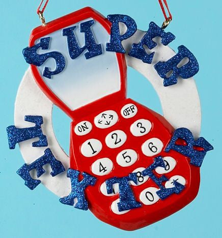Super Texter Christmas Ornament