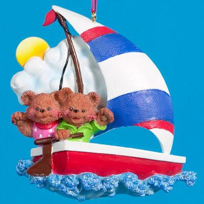 Sailing Bears Christmas Ornament