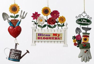 Gardening Christmas Ornaments (Set of 3)