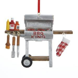 BBQ King Grill Christmas Ornament
