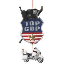 Top Cop Christmas Ornament