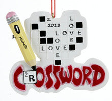 Crossword Christmas Ornament