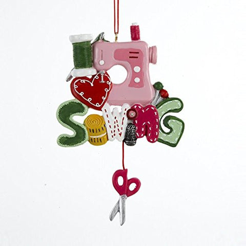 """I Love Sewing"" Christmas Ornament"