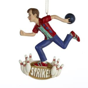 """Strike"" Bowling Christmas Ornament"