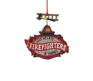Firefighteer Christmas Ornament