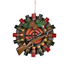 Shotgun shell Target Christmas Ornament