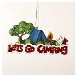 """Let's Go Camping"" Christmas Ornament"