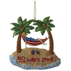 No Wake Zone Christmas Ornament